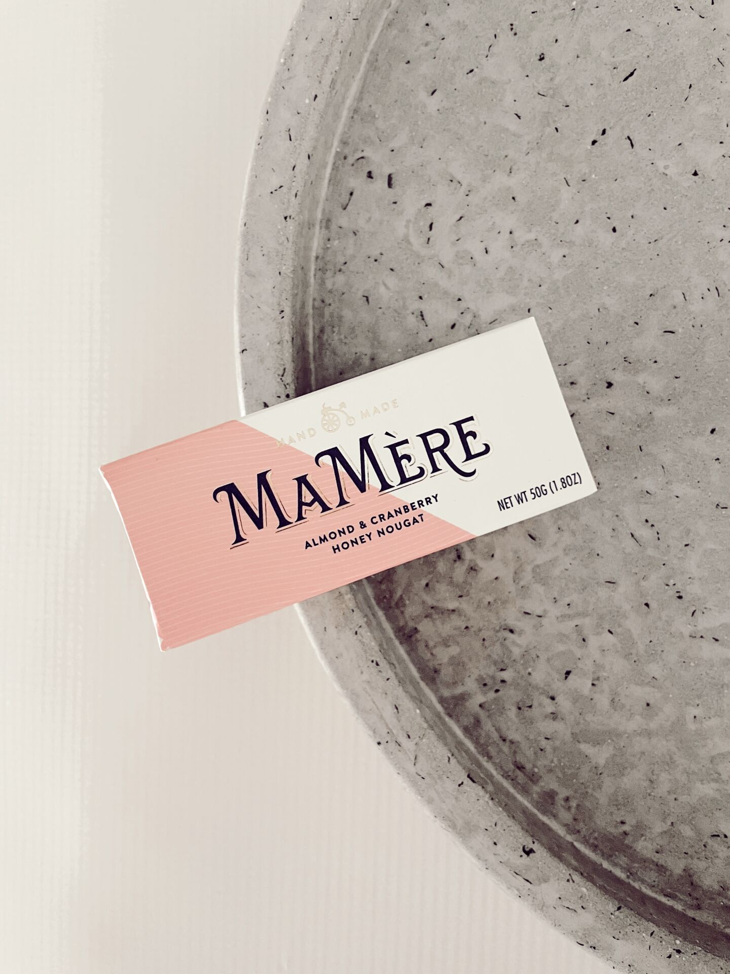 MaMere Confections  - Almond and Cranberry Honey Nut Nougat 50g