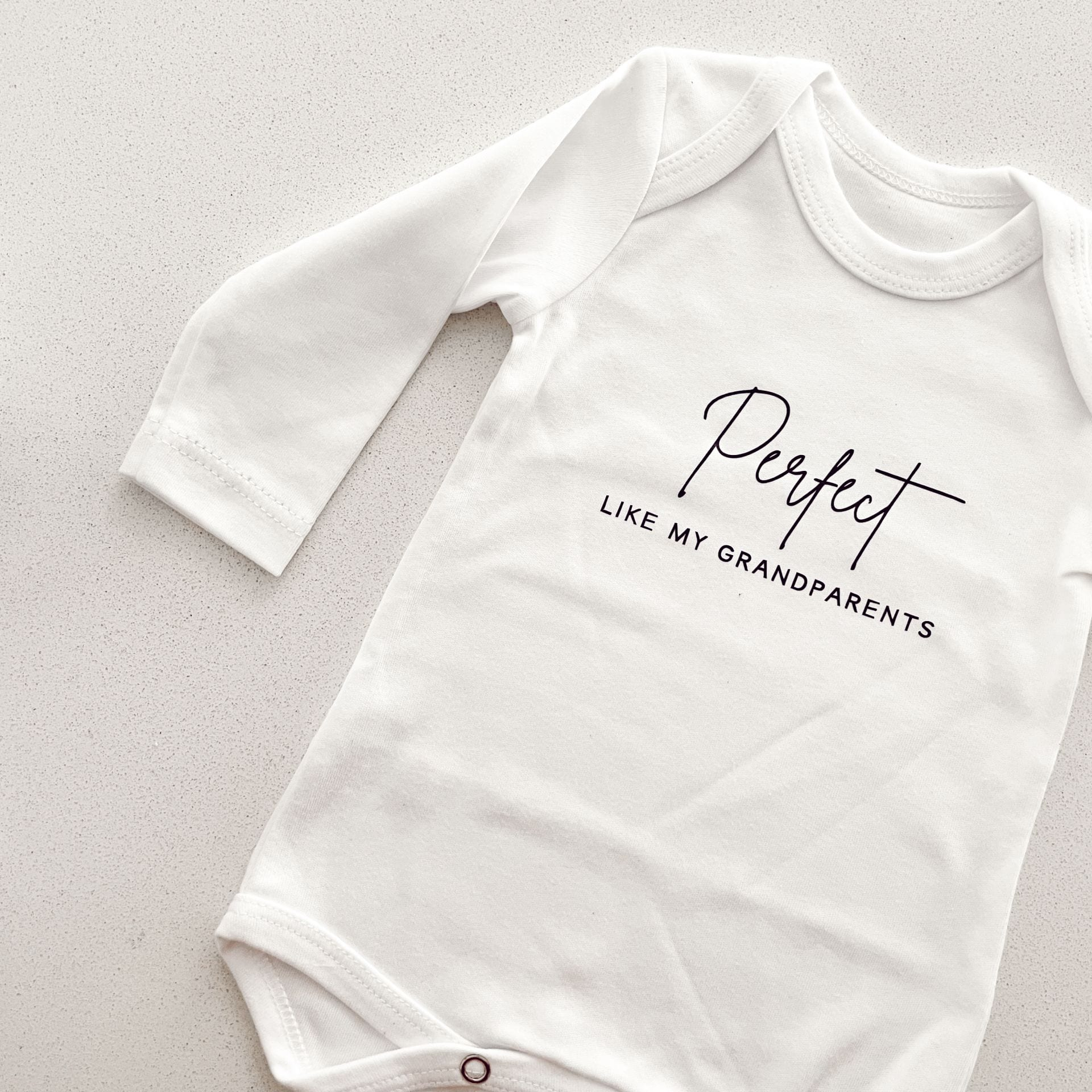 Baby onesie - 'Perfect like my Grandparents' 3-6 months