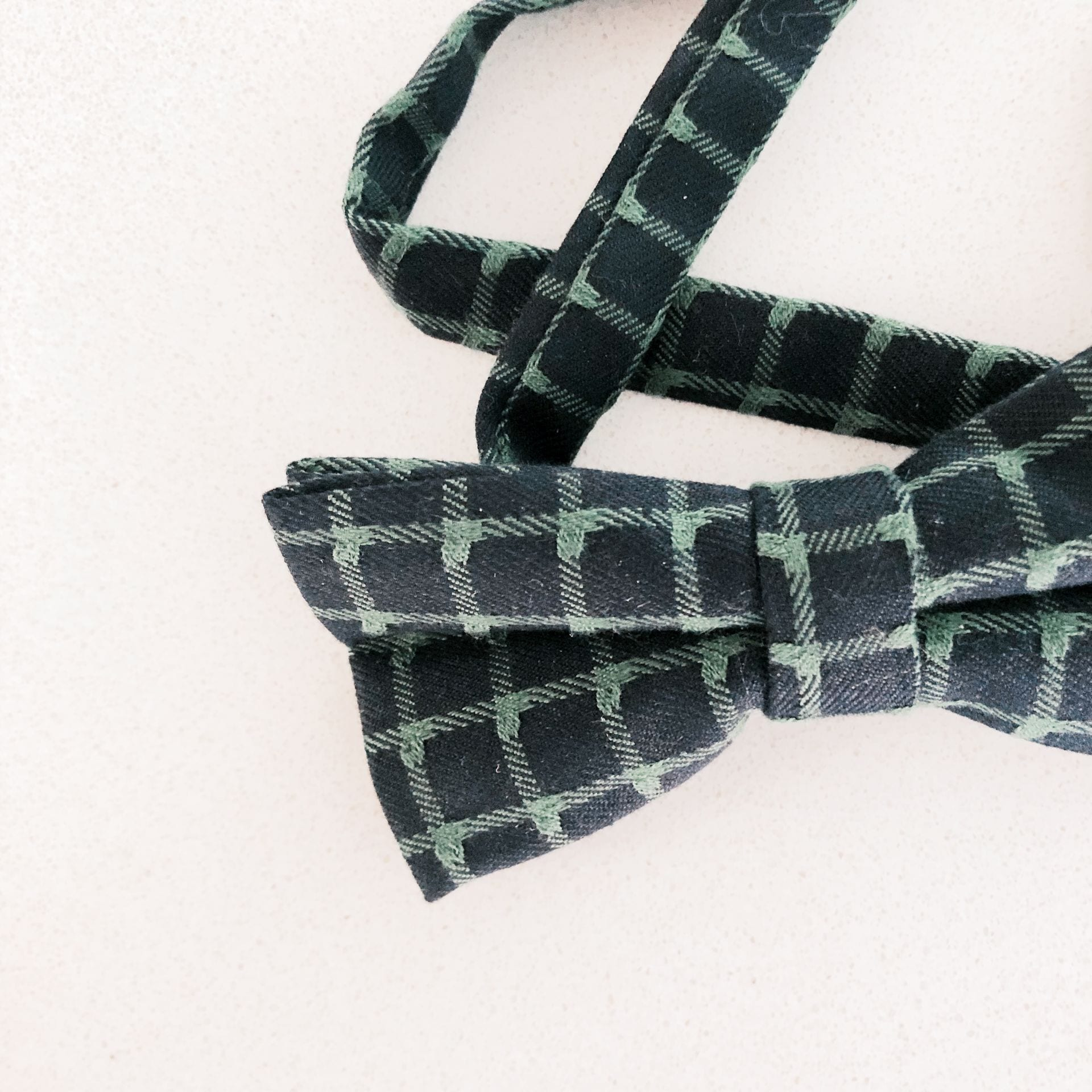 Bow Tie  - Green and Navy