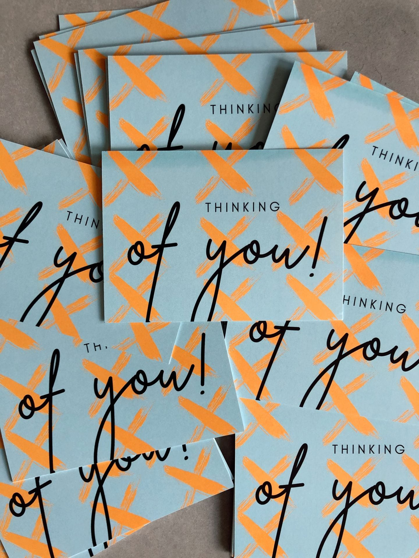 'Thinking of You' - Orange Post Card